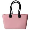 Stor väska med läderhandtag - Dusty Pink Bioplast Sweden Bag Stor med långa handtag