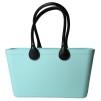Stor väska med läderhandtag - Peppermint Bioplast Sweden Bag Stor med långa handtag