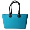 Stor väska med läderhandtag - Teal Sweden Bag Stor med långa handtag