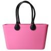 Stor väska med läderhandtag - Rosa Sweden Bag Stor med långa handtag