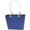 Sweden Bag - Small, with long leather handles - Blue / White