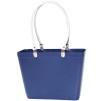 Sweden Bag - Liten - Blå med vita läderhandtag