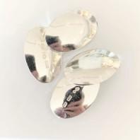 Manschettknappar ovala, silver 800kr