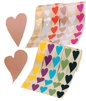 Etiketter Hjärtan sneda två olika varianter på samma rulle