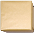 152209 Presentpapper 38,57,95cm.Guldfärgat papper ribbat med vit baksida.