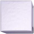 152208 Presentpapper 38,57,cm.Silverfärgat papper ribbat med vit baksida