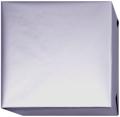 15208 Presentpapper Blankbestruket Silvergrått 19,38,57,95cm.slätt papper med vit baksida