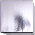153249 Presentpapper 57cm. 38cm.19cm.Metallic Silver högblank papper med vit baksida. 100m.