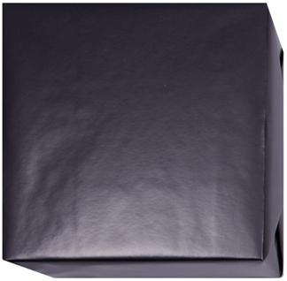 15211 Presentpapper Blankbestruket 19,38,57cm.Svart slätt papper med vit baksida