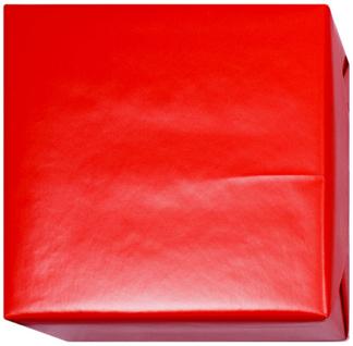 15210 Presentpapper Blankbestruket 19,38,57,95cm. Rött slätt papper med vit baksida