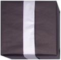 152411 Presentpapper Ribbat 38,57cm.Dubbelsidigt Svart/Silver färgat papper