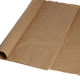 Silkespapper Oblekt naturbrunt 50x75cm. 15kg/fp.