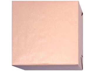 154320 Presentpapper Ljus Naturfärgat ribbat papper med brun baksida.(57cm. 38cm.200m.)(95cm.140m.)