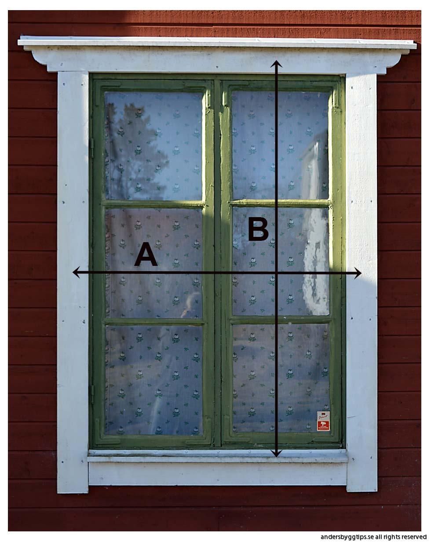 Hur mäter man fönster?   Byggtips för nybörjare - andersbyggtips.se