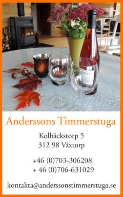 :   Pris för hyra av vår stora timmerstuga i Våxtorp strax utanför Kunsbygget Skiresort på Hallandsåsen mellan Laholm & Vallåsen i Halland