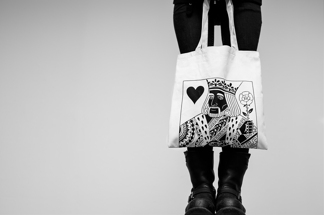 Printed Bag: King Of Hearts - Totebag
