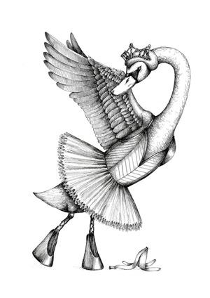 The main swan ballerina dancing in Swan Lake