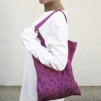 Printed Bag: Falling letters - Bag - Falling Letters/ Lilac