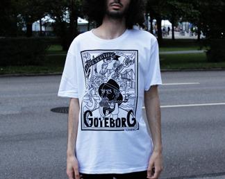 T-shirt: Göteborg White - T-shirt size XS