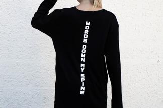 Long sleeve printed sweater - Long Sleeve Black 1