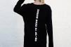 Long sleeve printed sweater - Long Sleeve Black 2