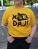 T-shirt: Flô Daj, gul - Size XL