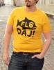 T-shirt: Flô Daj, gul - Size XXL