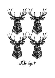 Print - Klonhjort - A3, 29,7x42 cm