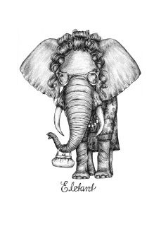 Print - Eletant - A3, 29,7x42 cm