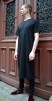 Organic T-shirt Dress Black, Somenid - Size L