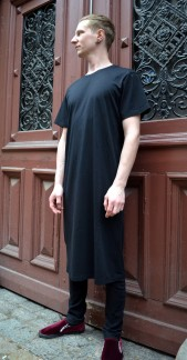 Organic T-shirt Dress Black, Somenid - Size S