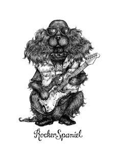 Print: Rockerspaniel - A3, 29,7x42 cm
