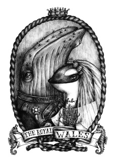 Print - The Royal Whales A4 - A4, 21x29,7 cm