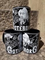 Mug Representing Göteborg, Black