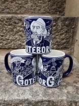 Mug Representing Göteborg, Navy Blue