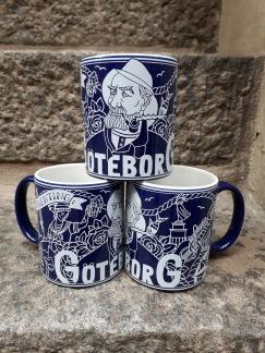 Mug Representing Göteborg, Navy Blue -