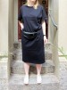 Organic T-shirt Dress Black, Somenid - Size M