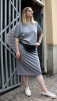 Organic T-shirt Dress Grey melange, Somenid - Size L