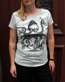 T-shirt: Bläskfisk slim fit, All-Elin - Size S