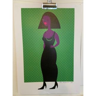 Print Graphic Lady - Print A4