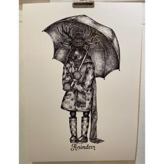 Print - Raindeer - Raindeer A4