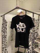 T-shirt: Flô Daj! Svart