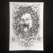Print: Lioness