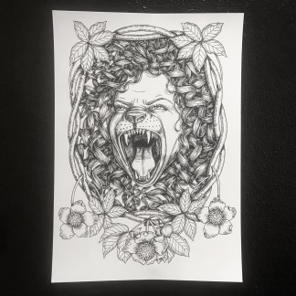 Print: Lioness - Print: Lioness A4