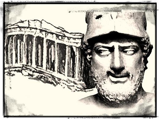 Perikles framför Parthenontemplet