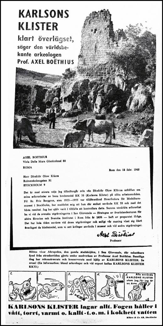 Arkeologer och Karlsons Klister