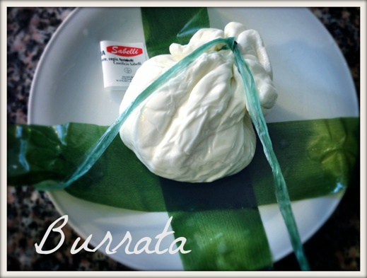 Burrata, Mozzarellans Armani