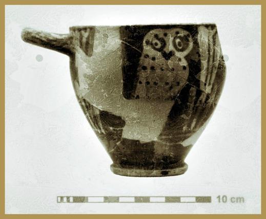 Etruskisk vas med ugglemotiv
