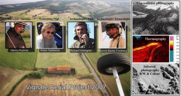 Vignale Archaeological Project har arbetat med olika former av flygfotografering i Italien