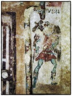 Freskmålning av Charun i en etruskisk grav